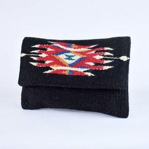 Southwest Boho Clutch Purse Chimayo Black